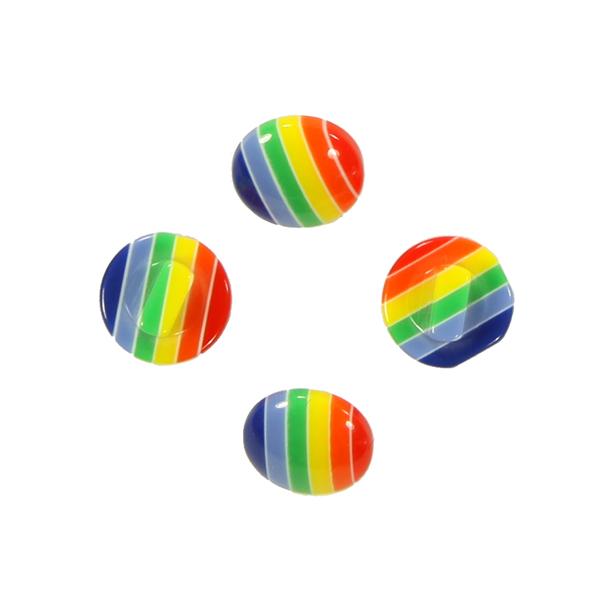 Kunststoffknopf, Rainbow