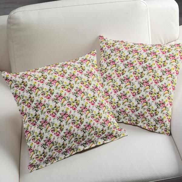 tissu en coton roses petit 1 blanc tissus en coton. Black Bedroom Furniture Sets. Home Design Ideas