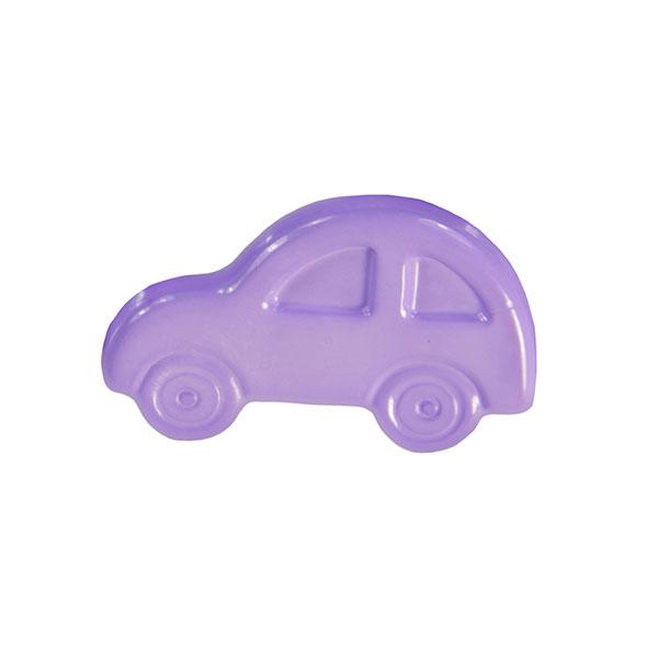 Pastellfliederfarbener Kunststoffknopf in Autoform