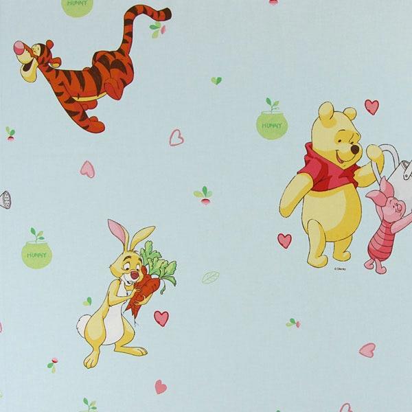 Babyblaue Baumwolle 'Winnie Puuh'