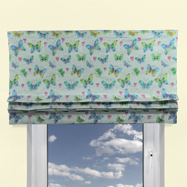 Lovely butterfly 3 cortinas infantiles - Tela cortinas infantiles ...