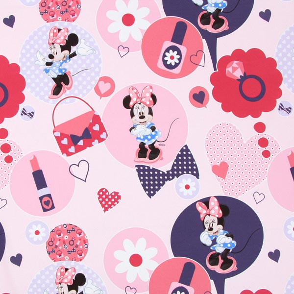 disney minnie mouse baumwollstoff pink disney. Black Bedroom Furniture Sets. Home Design Ideas