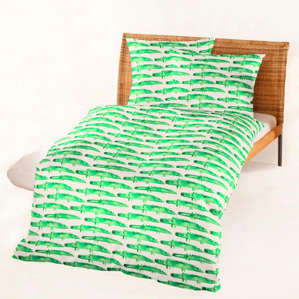Crocodiles grass green prints decorator fabrics for Children s furnishing fabrics