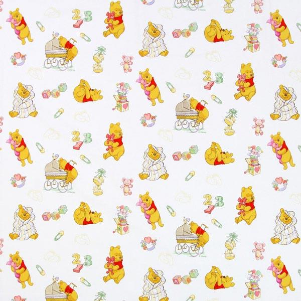 Disney Winnie Puuh Dada - weiss - Muster - Disney- stoffe.de