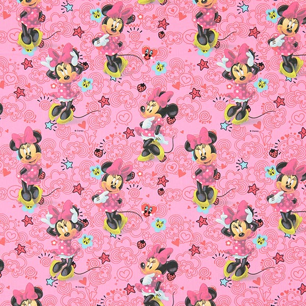 Pinkfarbener Baumwollstoff Disneys 'Minnie Mouse'