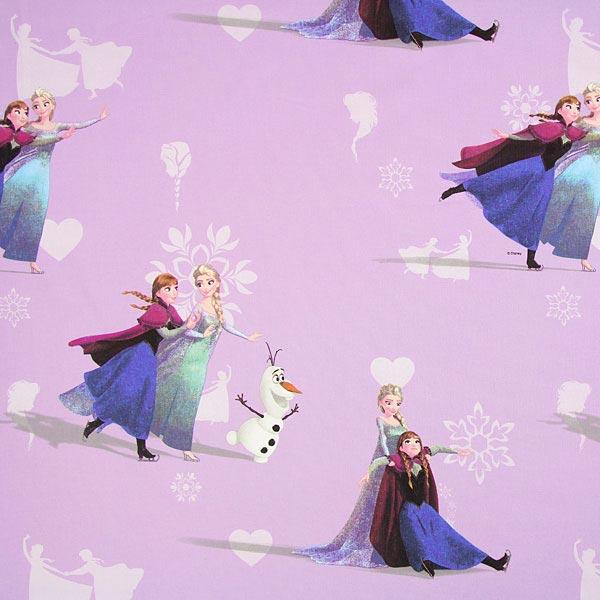 Fliederfarbener Baumwollstoff Disneys 'Die Eiskönigin'