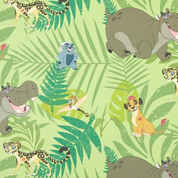 Baumwollstoff Disney König der Löwen – grün - Kinder Dekostoffe ...