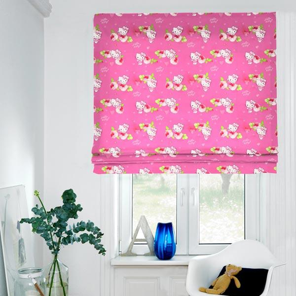cretonne hello kitty kitsy 1 pink kinder dekostoffe. Black Bedroom Furniture Sets. Home Design Ideas