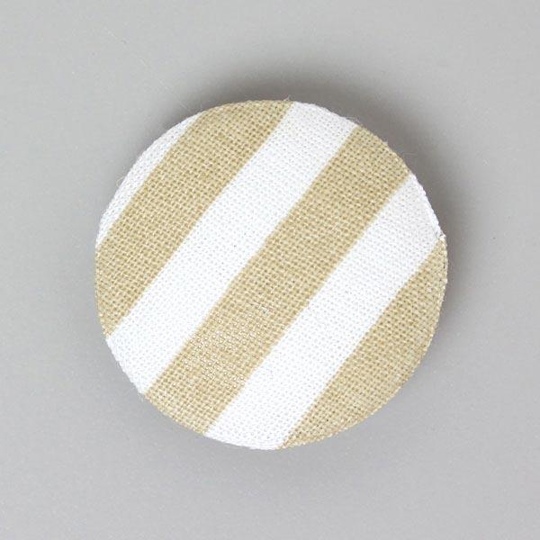 Streifen-Stoffknopf 'Classic Stripes'