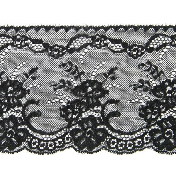 breite spitze dezent schwarz unelastische spitzen r schen. Black Bedroom Furniture Sets. Home Design Ideas