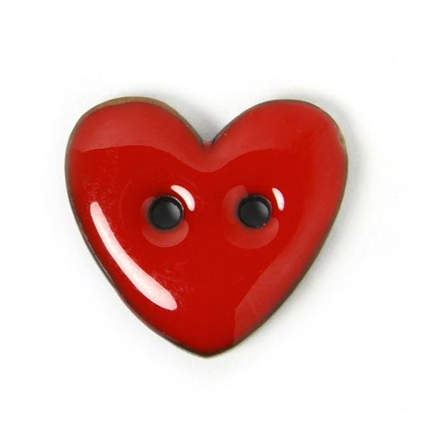 Roter Herzknopf 'Big Love'
