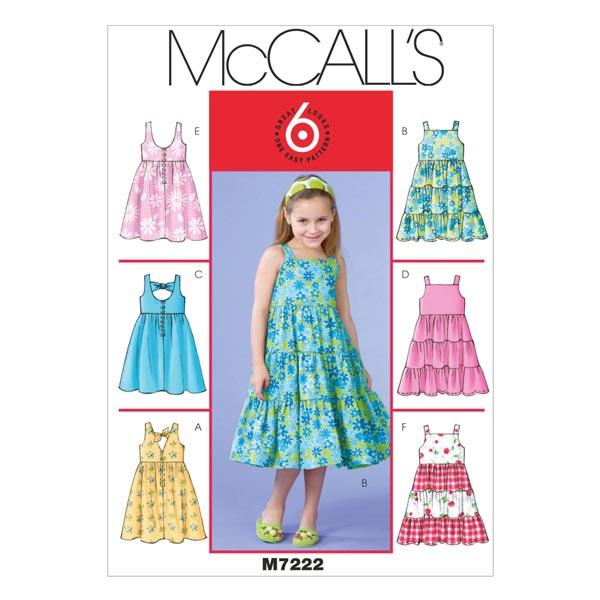 official photos 575f2 49a86 abiti bambina|ragazza, McCalls 7222 | 92 - 134