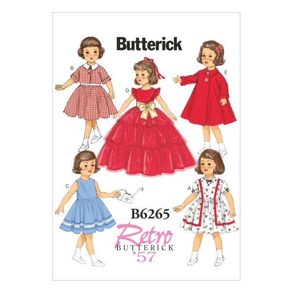 official photos 1b044 80ce8 abiti vintage per bambole - 45 cm 1957, Butterick