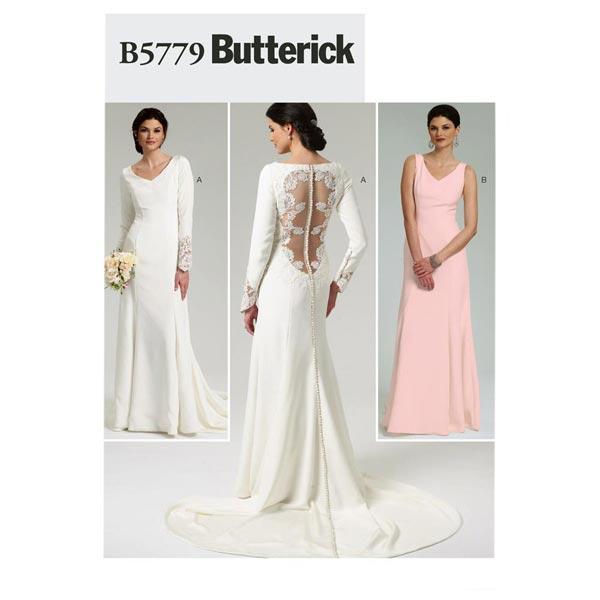 Abito Da Sposa 46.Abito Da Sposa Butterick 5779 38 46 Cartamodelli Abito Da
