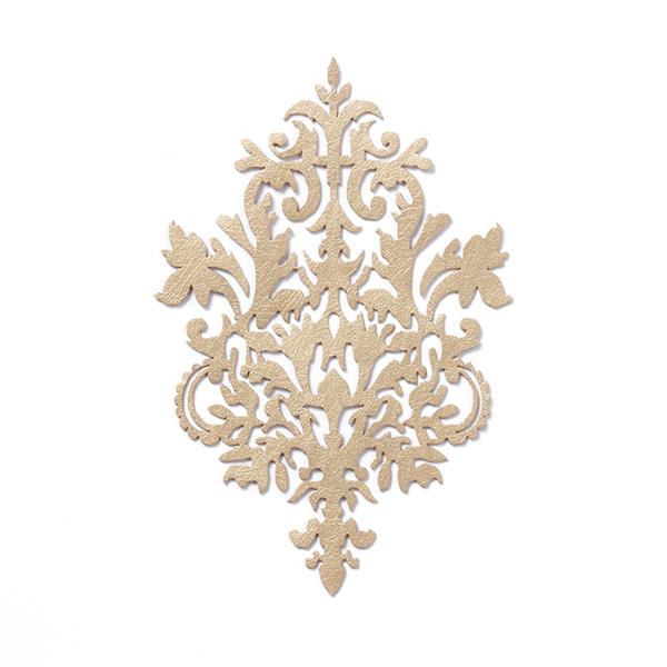 100 Applikation Aufnäher GOLD Pailletten elegante Muster Borte Nähen 1,5cm