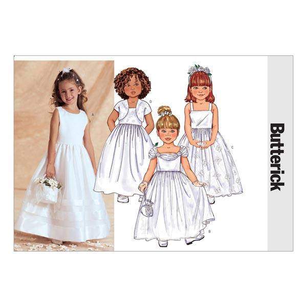 Barnklänning, Butterick 6161|122 134 mönster småbarn tyg.se