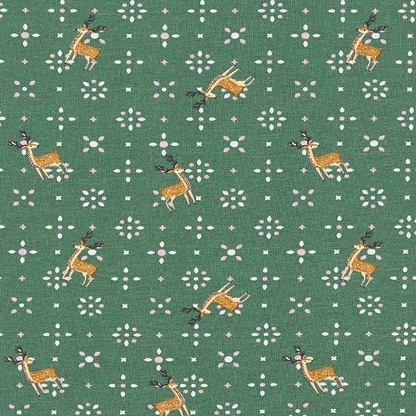 Weihnachtlicher Baumwolljersey mit Rentieren