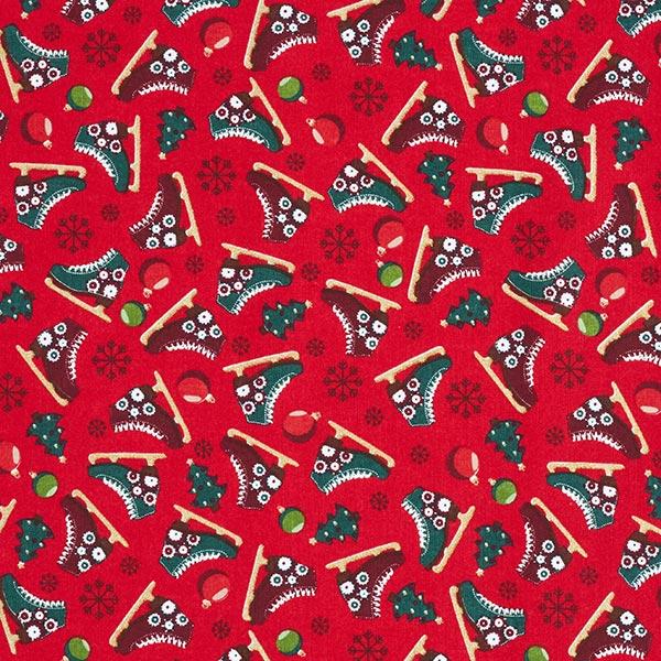 Weihnachtsstoff in Rot