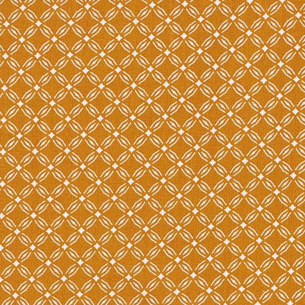 Dekostoff aus Baumwolle in Senfgelb für Osterschmuck im Vintage-Stil