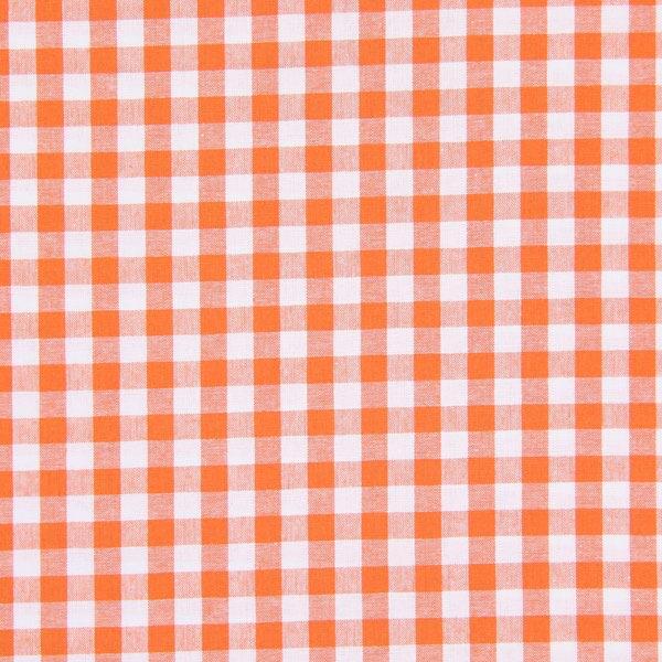 Baumwollstoff Karo - 1 cm, 11 - orange