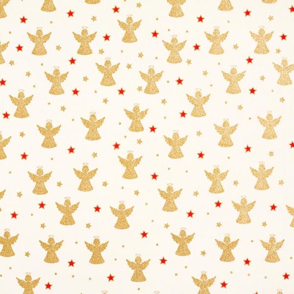 Baumwollstoff mit Weihnachtsengeln