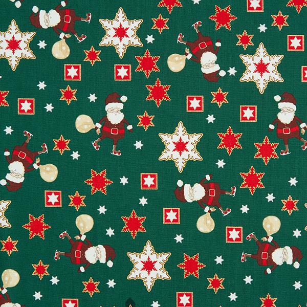Weihnachtsstoff mit Weihnachtsmann