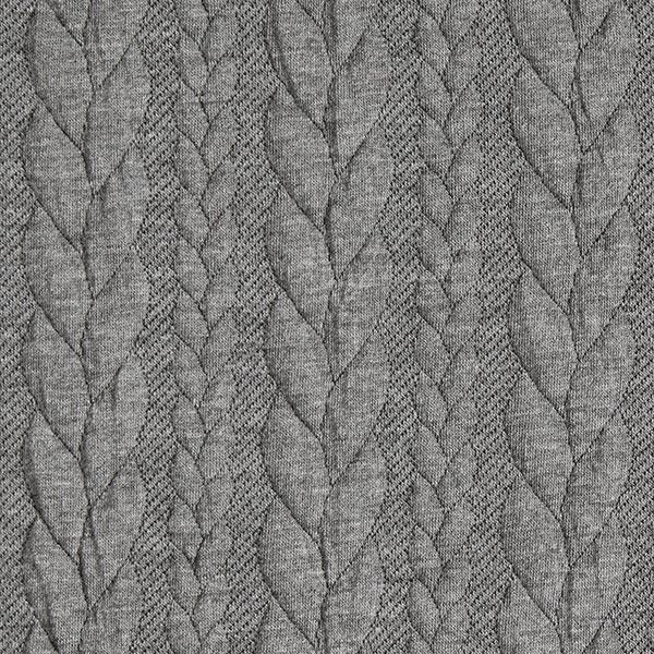 612144836e7 Cabled Cloque Jacquard Jersey – light grey