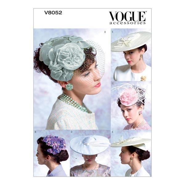 alta moda grande sconto andare online cappelli vintage, Vogue 8052 - Cartamodelli accessori- tessuti.com
