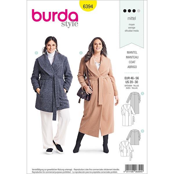 cappotto, Burda 6394 | 46 56