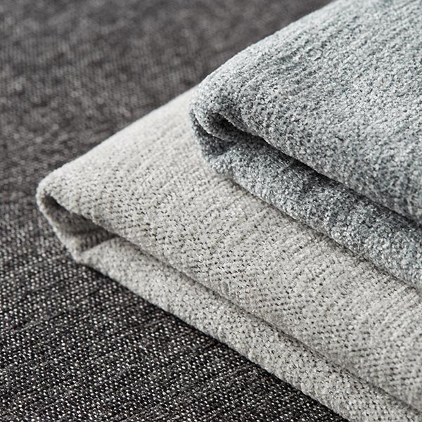 chenille upholstery fabric thor light grey