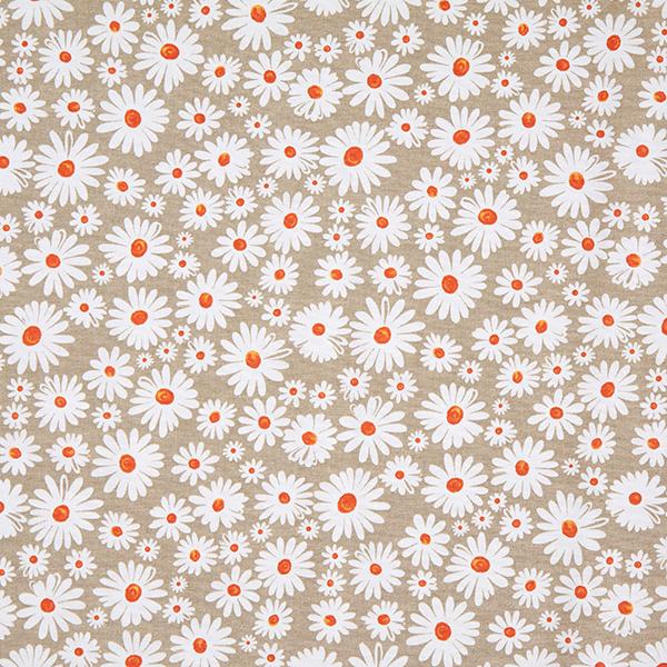 Dekostoff Canvas Margeriten Blüten Natur