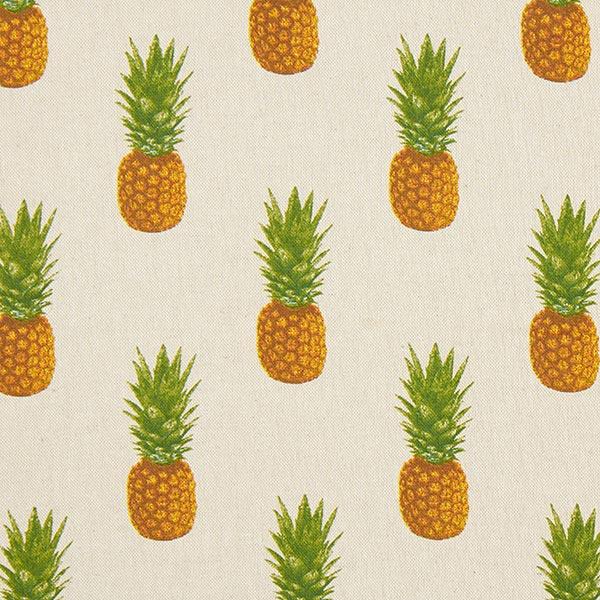 517da4f60df9 Dekostoff Halbpanama Ananas – natur – Muster