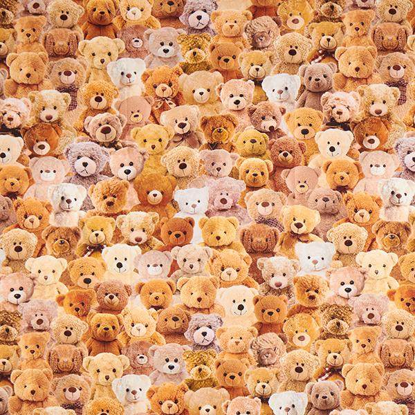 Dekostoff mit Teddybären