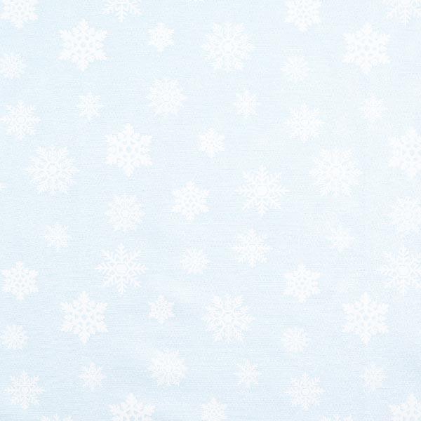 Blauer Dekostoff mit Schneeflocken