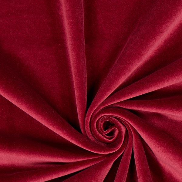 Samtstoff in festlichem Rot