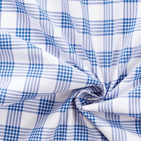 Tissu de chemise coton Carreaux – bleu roi/blanc