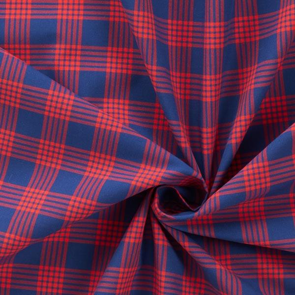 Tissu de chemise coton Carreaux – bleu marine/rouge