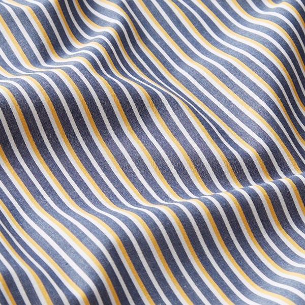 Tissu de chemise coton Rayures env. 4mm – bleu marine/jaune