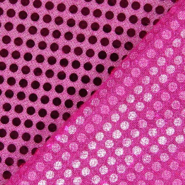 Jersey Paillettes 6 mm – rose vif
