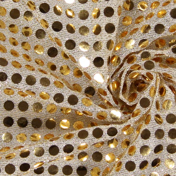 Jersey Paillettes 6 mm – or