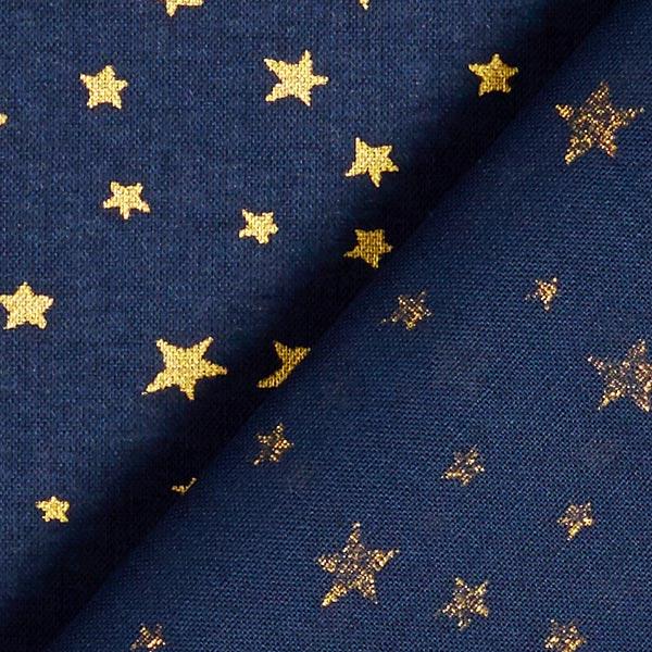 Tissu en coton Cretonne Ciel étoilé de Noël – bleu marine/or
