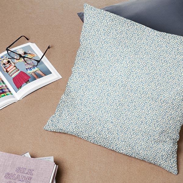 Tissu en coton Feuilles Falun 1 – gris bleu