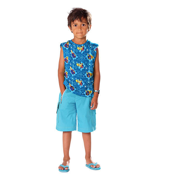 Jersey Single Sam le Pompier 1 – bleu