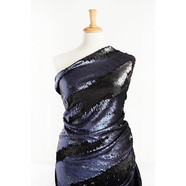 Jersey à paillettes Paillettes réversibles, Couleur mate – noir/bleu marine