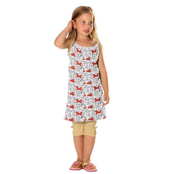 Jersey coton Minnie Dessin BD – blanc/rouge
