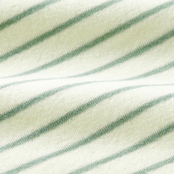 Jersey éponge Rayures – écru/roseau