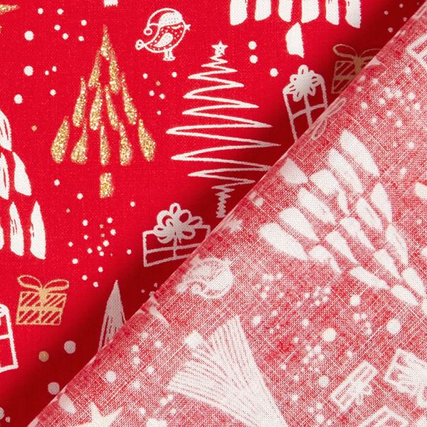 Tissu en coton Popeline Paillettes sapin – rouge