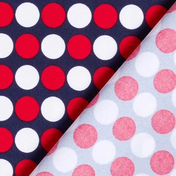 Tissus de maillot de bain Points rétro – navy/rouge