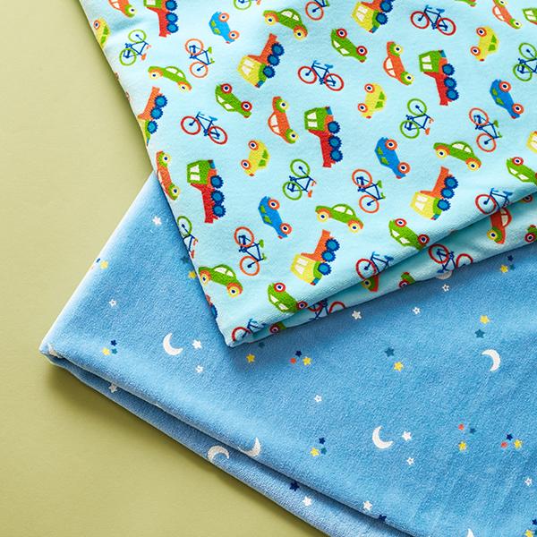Tissu Nicki Etoiles et lune – bleu clair