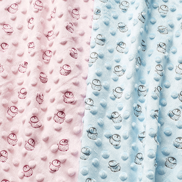 Bubble Fleece Baby Pinguin – rose